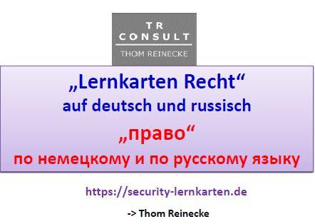 Rechtsgrundlagen in deutsch und russisch