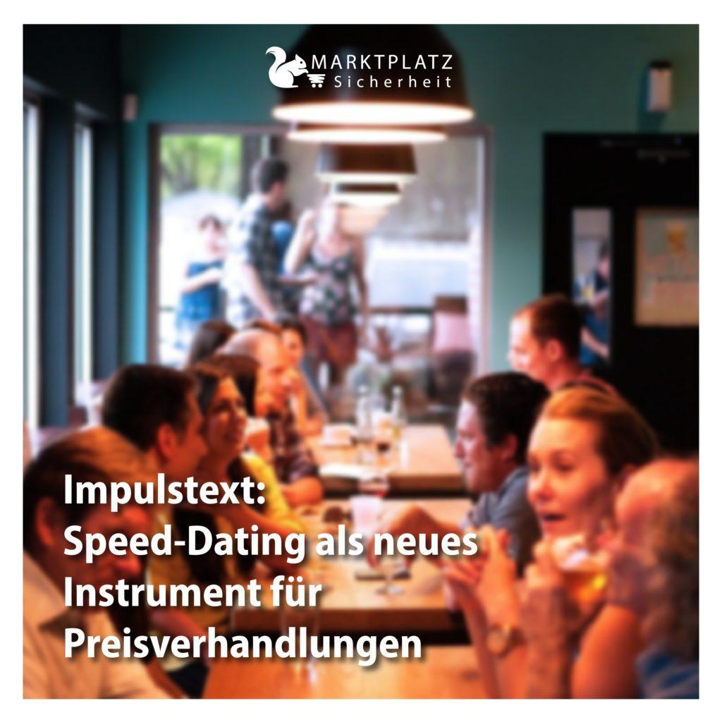 Speed-Dating für Sicherheits-Dienstleistungen