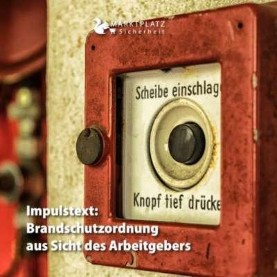 Brandschutzordnung aus Sicht des Arbeitgebers