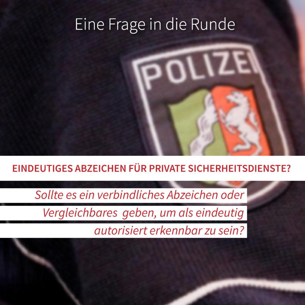 Abzeichen für private Sicherheitsdienste